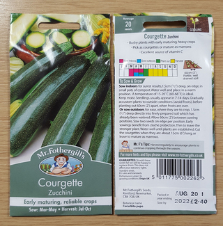 Little Dread Courgette - Product Recall